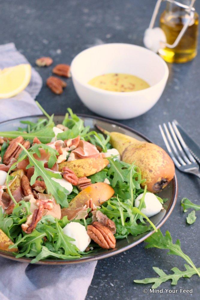 salade met linzen, herfst salade, salade recepten, lunch