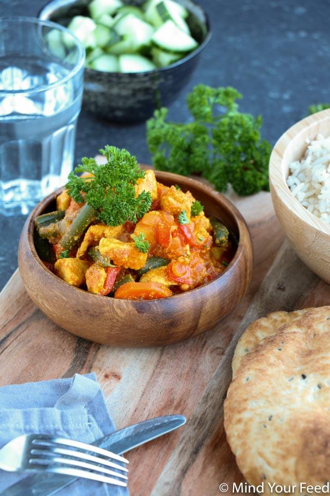 kip tandoori, kip tandoori recept, kip tandoori knorr, kip tandoori met groenten, kip tandoori wereldgerechten, kip tandoori zelf maken