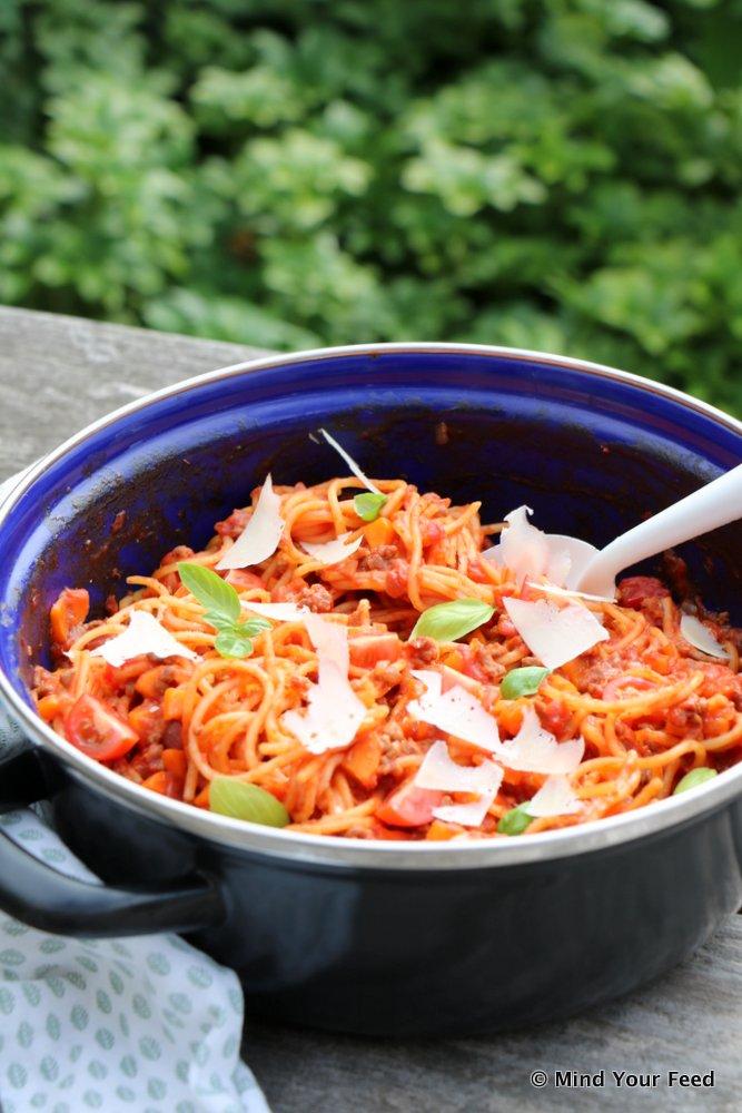 eenpans spaghetti bolognese
