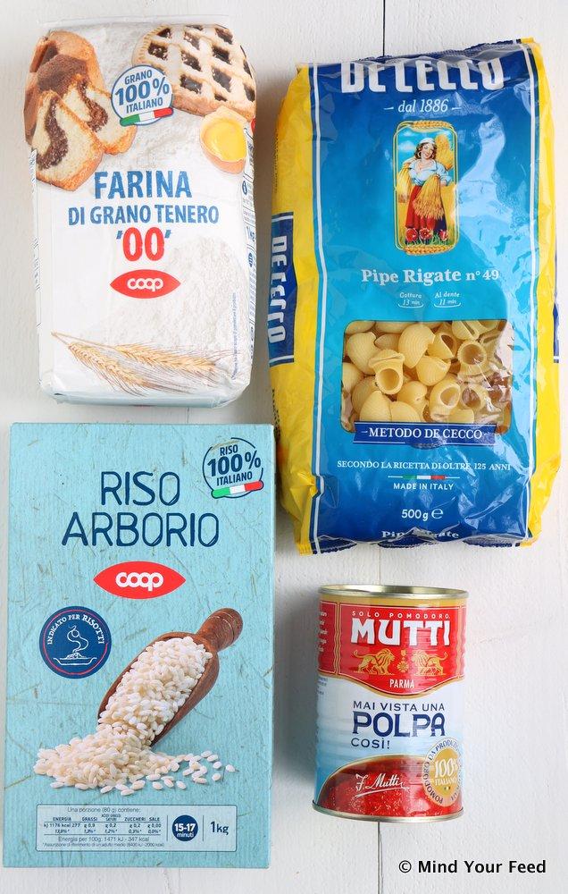boodschappen uit Italië