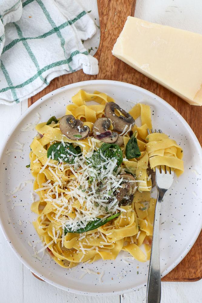 tagliatelle met champignon roomsaus