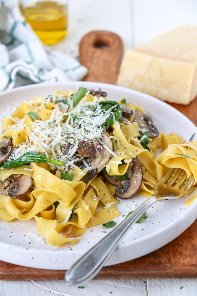 tagliatelle met champignons roomsaus