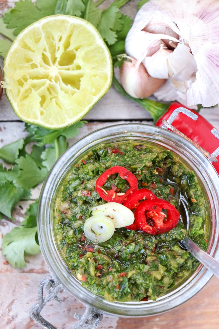 chimichurry Argentijnse groene salsa