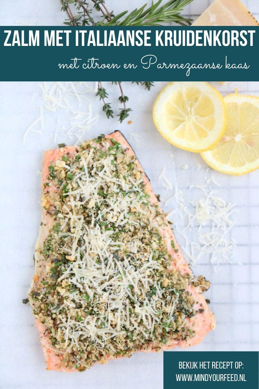 Zalm met Italiaanse kruidenkorst, zalm met kruidenkorst, hoofdgerecht zalm, zalm recepten, hoofdgerecht kerst, vis recepten, hoofdgerechten vis, hoofdgerechten vis kerstmenu