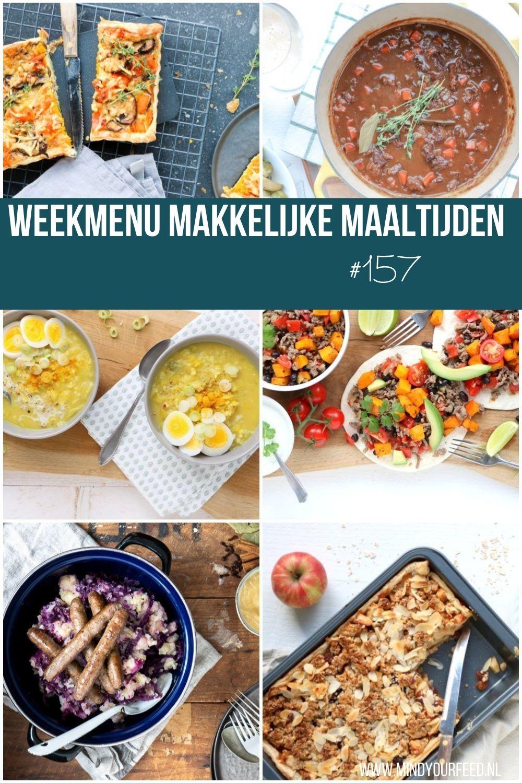 weekmenu makkelijke maaltijden, weekmenu gezond, weekmenu lekker en simpel