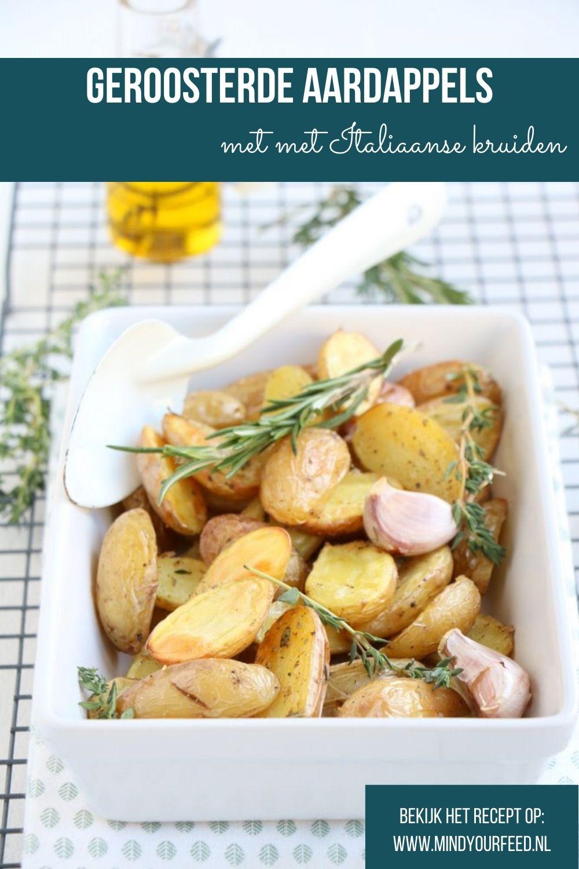 Geroosterde aardappels uit de oven met Italiaanse kruiden. Italiaanse aardappels uit de oven, aardappeltjes uit de oven, krieltjes uit de oven