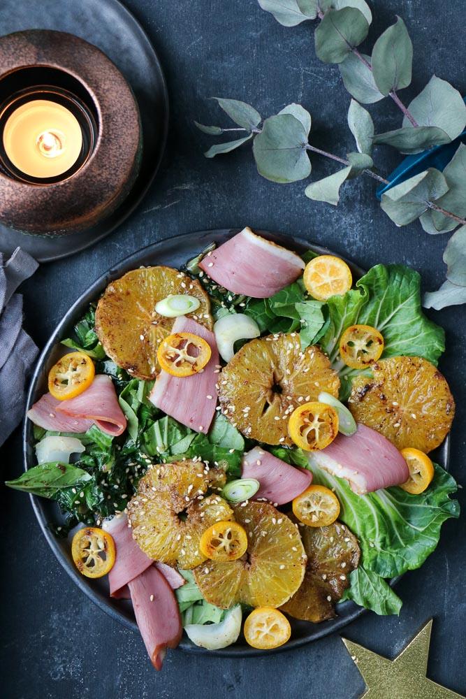 salade met eendenborst sinaasappel, salade eend sinaasappel