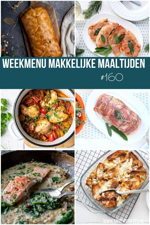weekmenu makkelijke maaltijden gezonde recepten, weekmenu lekker en simpel, weekmenu gezond, avondeten, avondmaaltijd