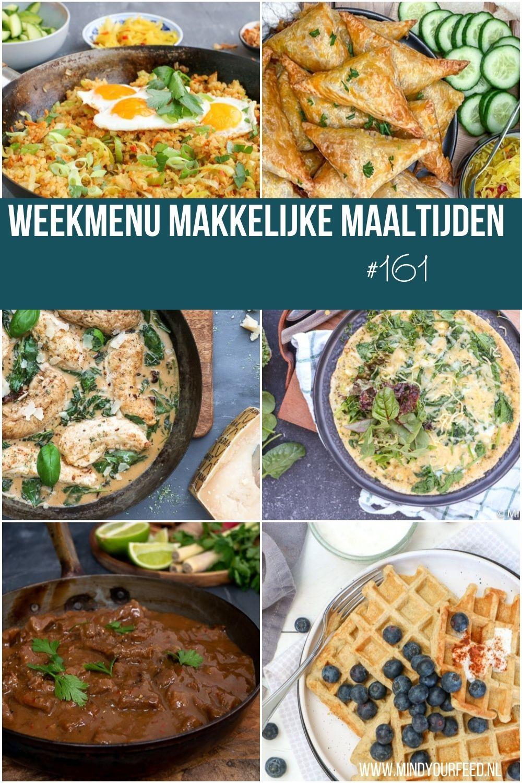 weekmenu makkelijke maaltijden, gezonde recepten, lekker en simpel weekmenu