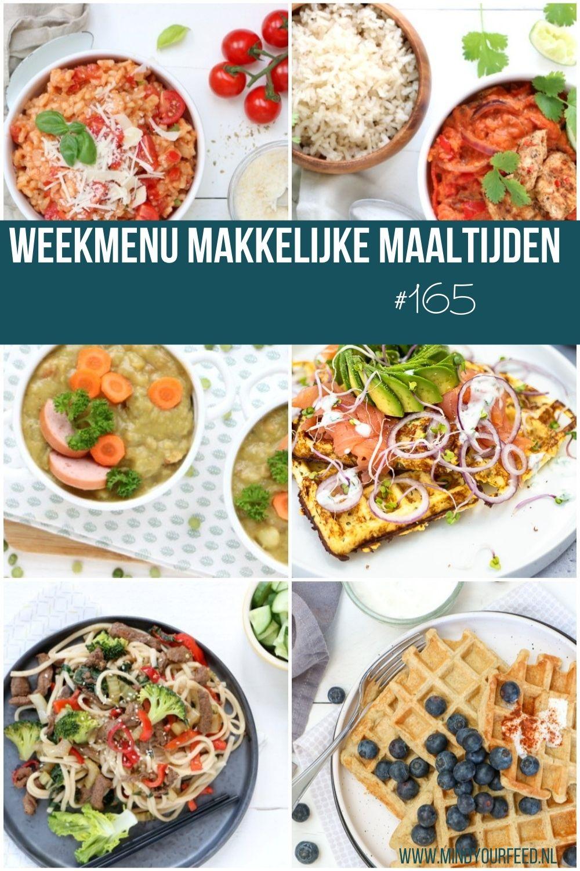 Weekmenu makkelijke maaltijden, lekkere recepten voor elke dag. Wat eten we vandaag is hiermee beantwoord.