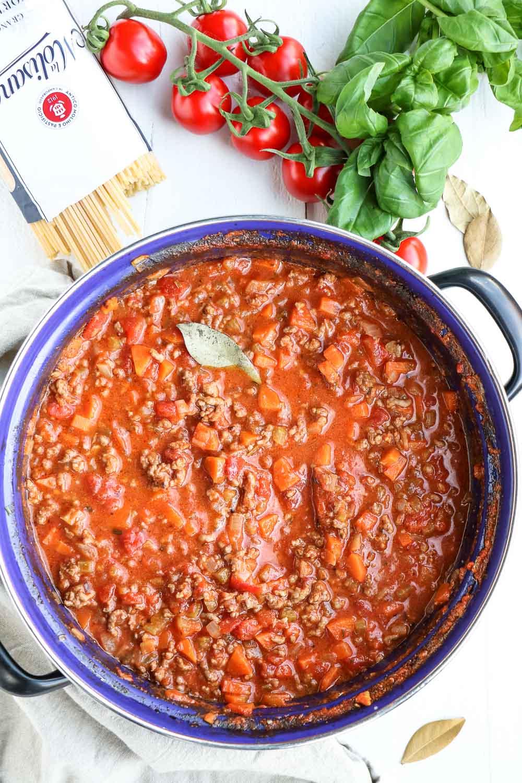 Bolognesesaus, Bolognese saus, klassiek recept, Italiaanse pastasaus, spaghetti bolognese, lasagne bolognese