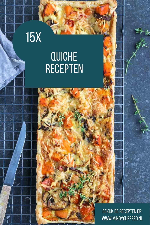 Quiche recepten, makkelijke recepten voor heerlijke quiches. Hartige taarten met gehakt of kip, of met zalm, of juist met lekker veel groenten. De lekkerste makkelijke maaltijd!
