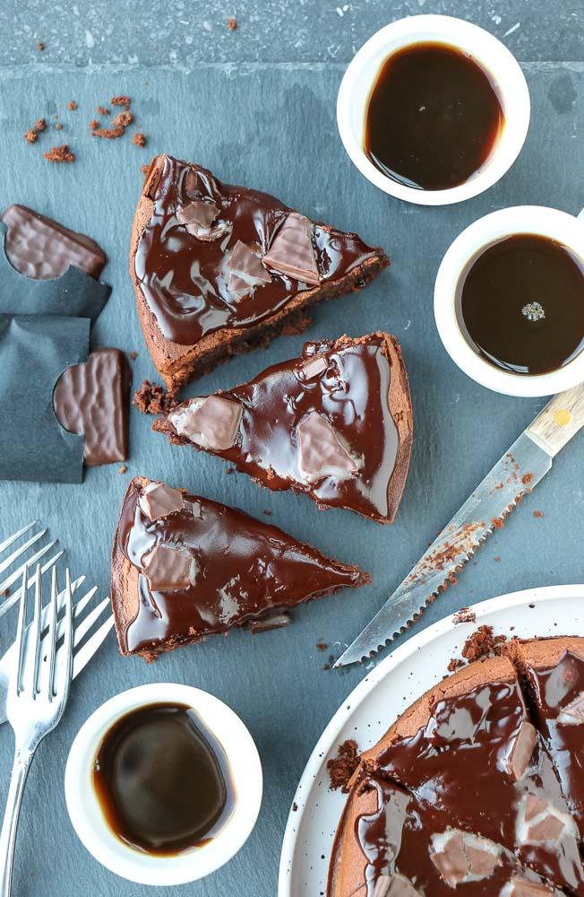 pure chocoladetaart met mint chocolade ganache
