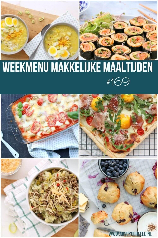 weekmenu makkelijke maaltijden, gezonde recepten voor de hele week