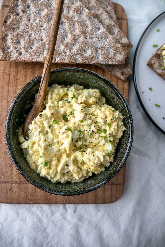 truffel eiersalade, zelf eiersalade maken, recept