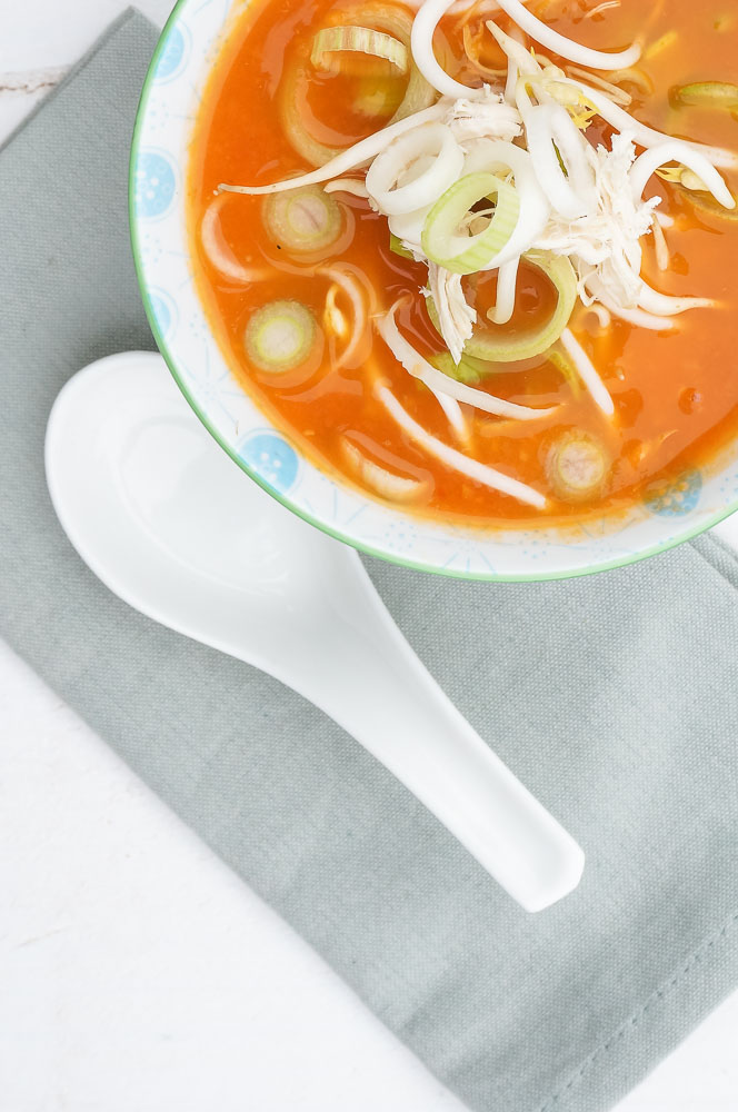Chinese tomatensoep, makkelijk recept voor chinese maaltijdsoep