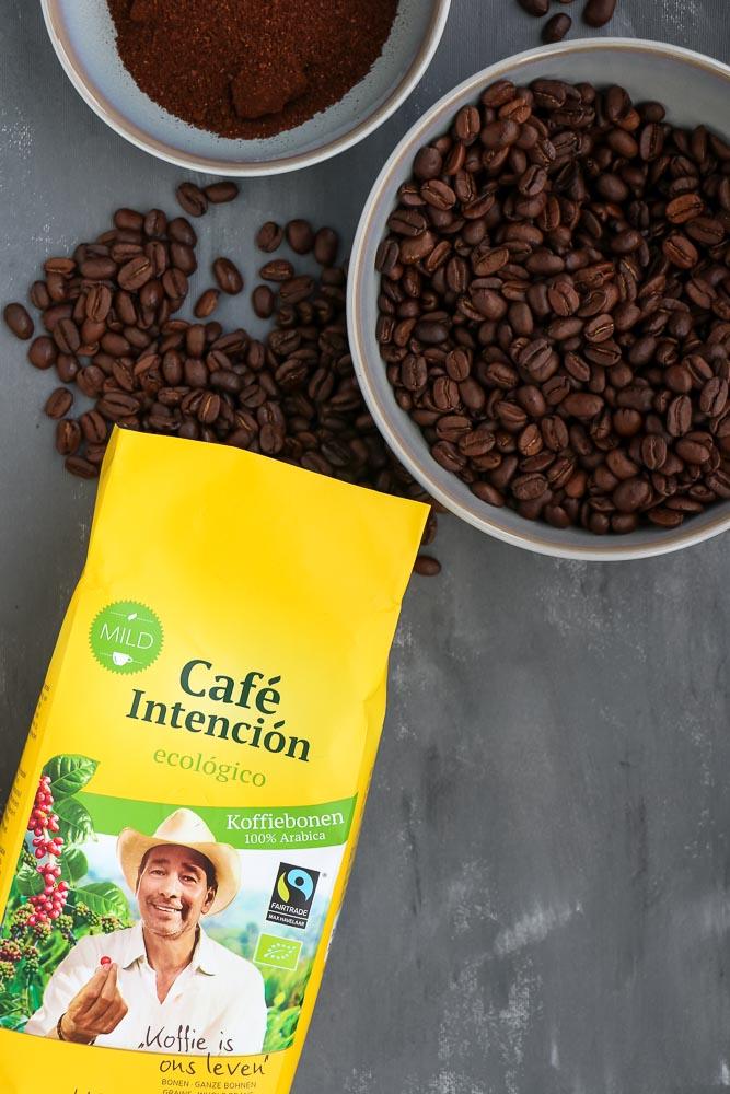 cafe intencion, havermout cups, fairtrade biologische koffie