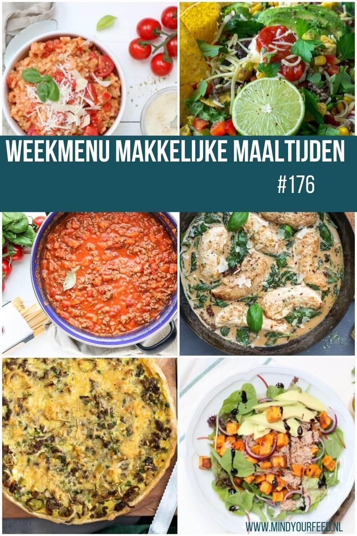 weekmenu makkelijke maaltijden gezonde recepten, lekker en snel