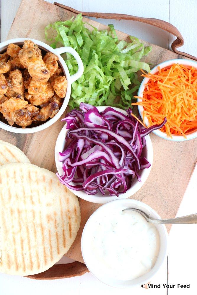 pitabroodjes met kip kebab