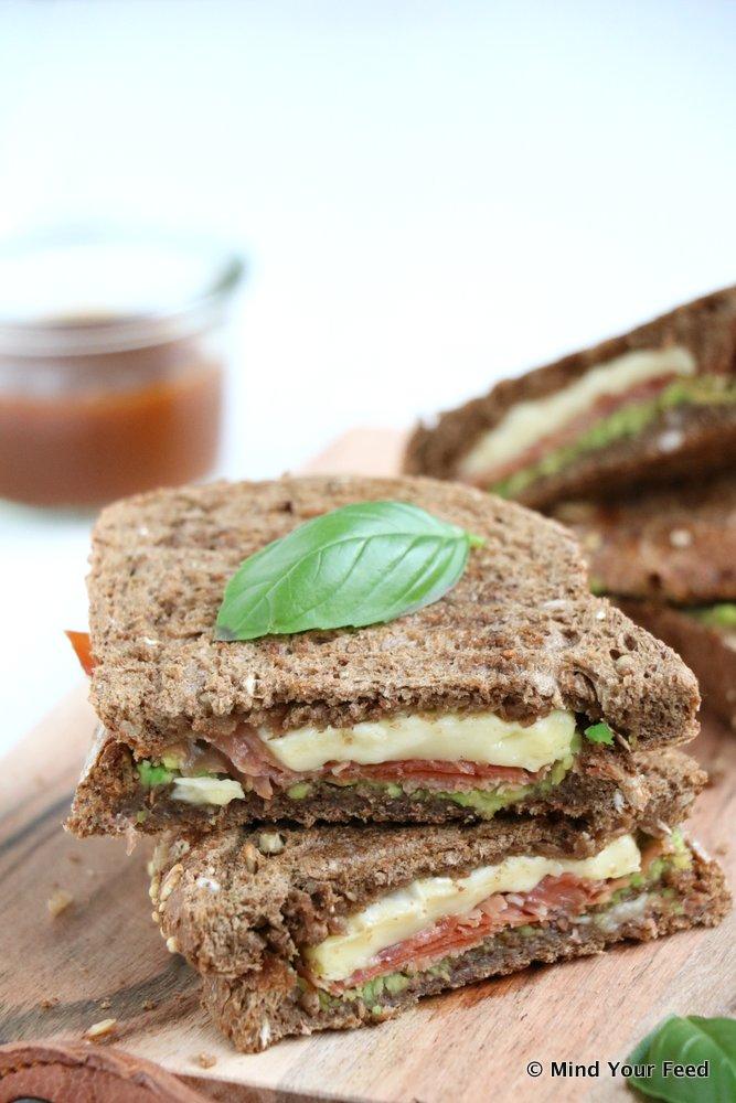 tosti met avocado