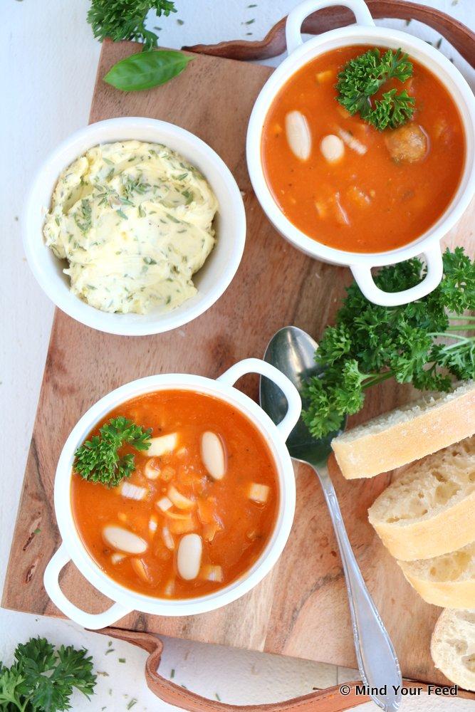 tomatensoep met witte bonen