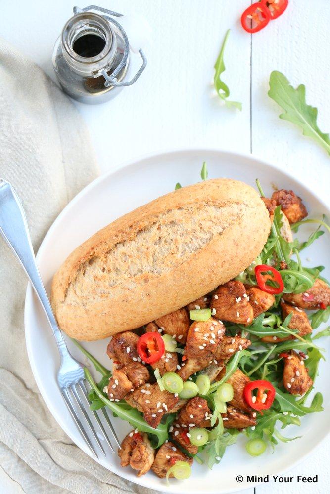broodje pittige kip