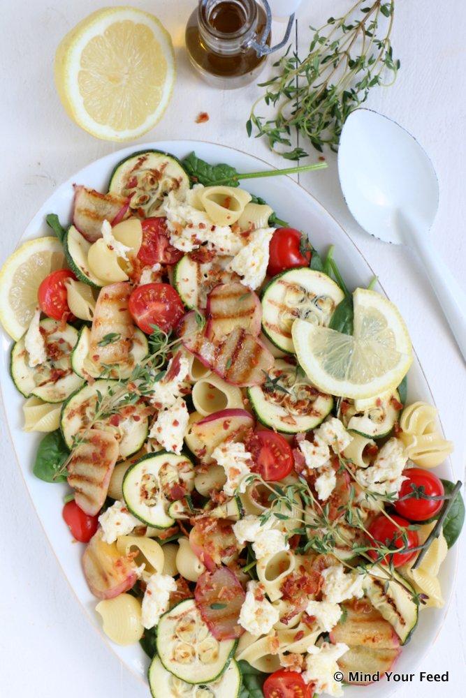 pastasalade met courgette
