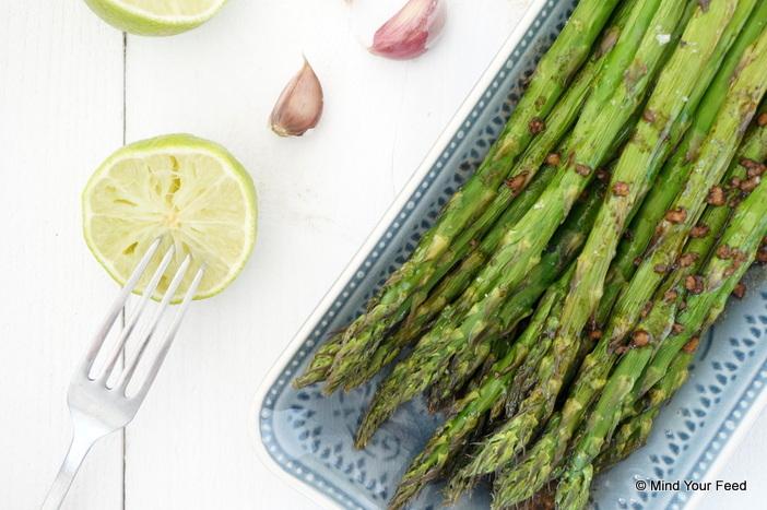 Groene asperges met balsamico dressing