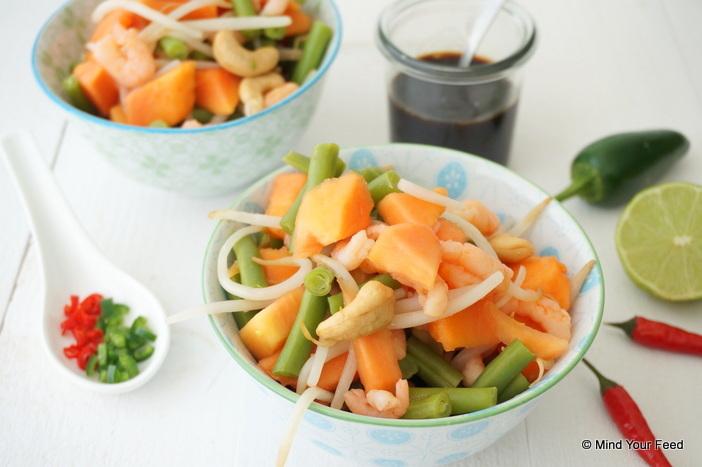 Papaja salade