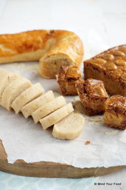 amandelspijs met honing, zelf amandelspijs maken, amandelspijs recept