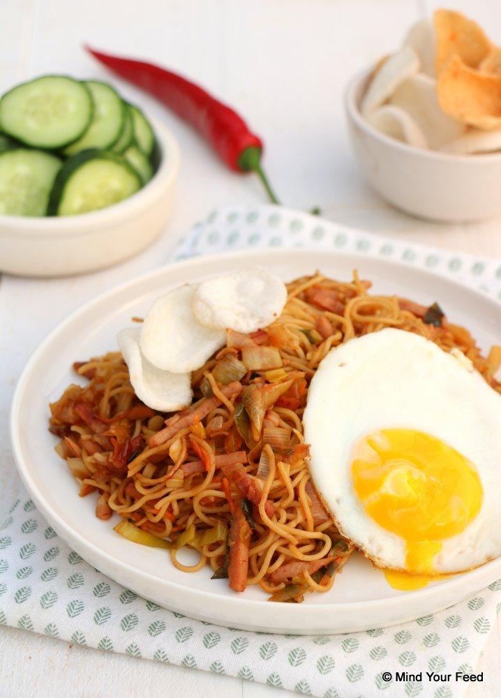 Indonesische bami goreng, bami goreng recept, bami recept, bami zonder pakjes.