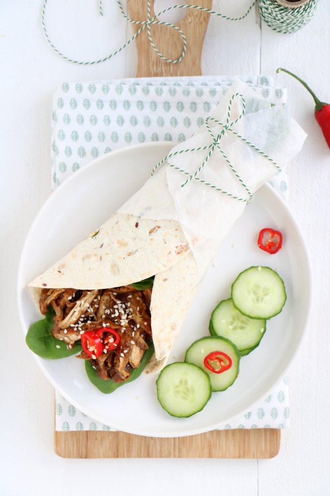 Indonesische pulled chicken
