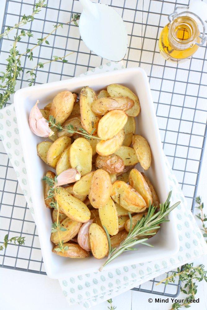 Italiaanse geroosterde aardappels, aardappels uit de oven, aardappeltjes uit de oven, Italiaanse kruiden