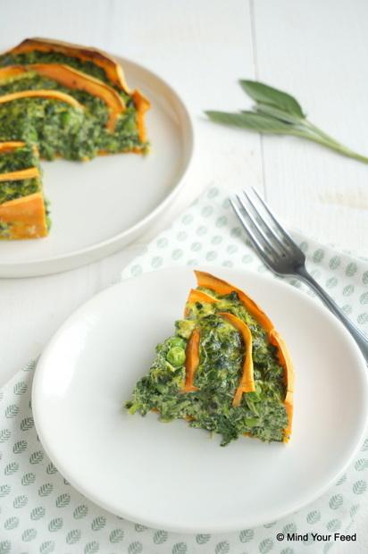 spinazie ricotta taart