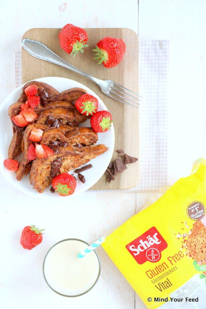 wentelteefjes met aardbeien