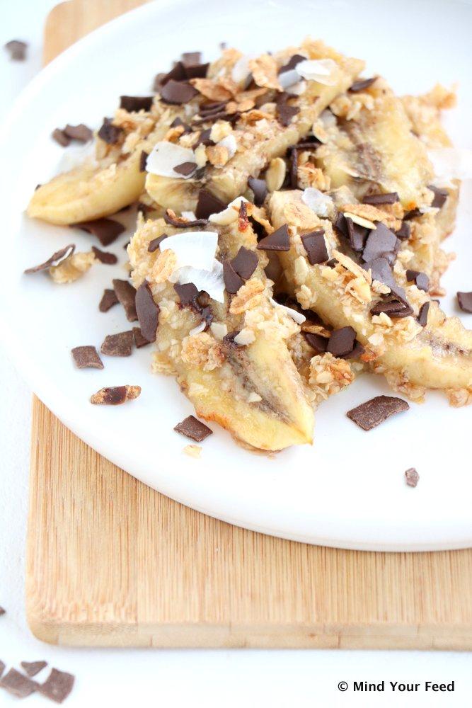 gebakken banaan uit de oven