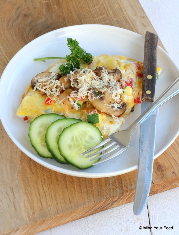 boeren omelet met groenten