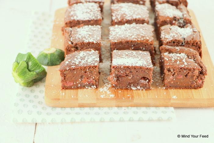 brownie cake met courgette