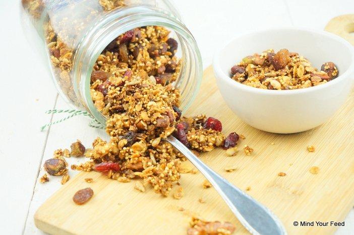 granola met quinnoa