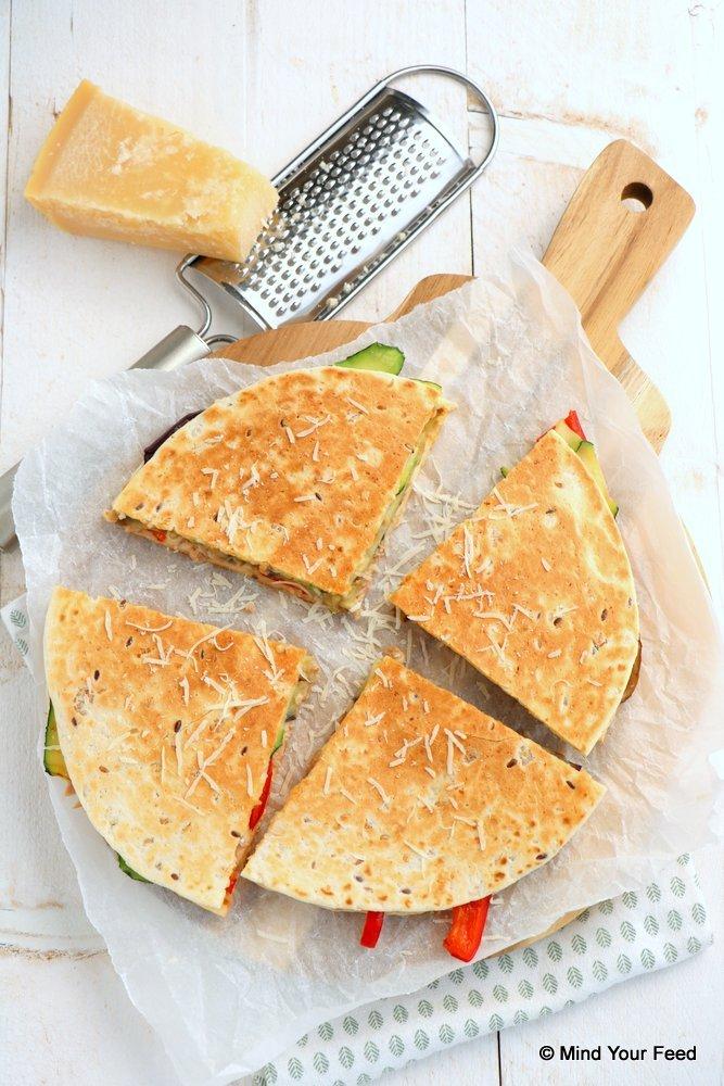 quesadilla met tonijn