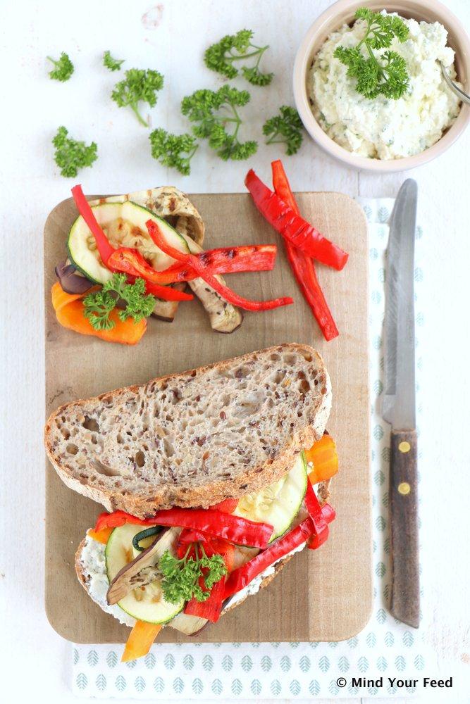 sandwich gegrilde groenten